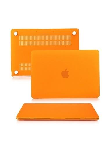 """Mcstorey MacBook Retina A1398 15"""" 15.4"""" Kılıf Kapak Koruyucu Hard Incase Mat Oranj"""